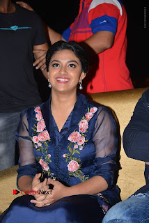 Actress Keerthi Suresh Stills in Blue Long Dress at Nenu Local Audio Launch  0012.JPG