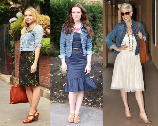 denim jackets with bridesmaid dresses
