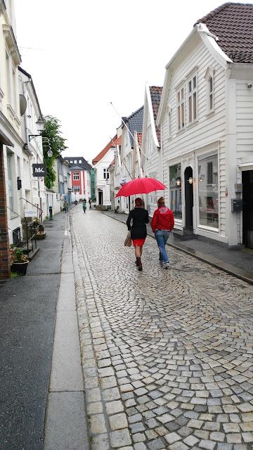 Case tipiche di legno del Bryggen-Bergen