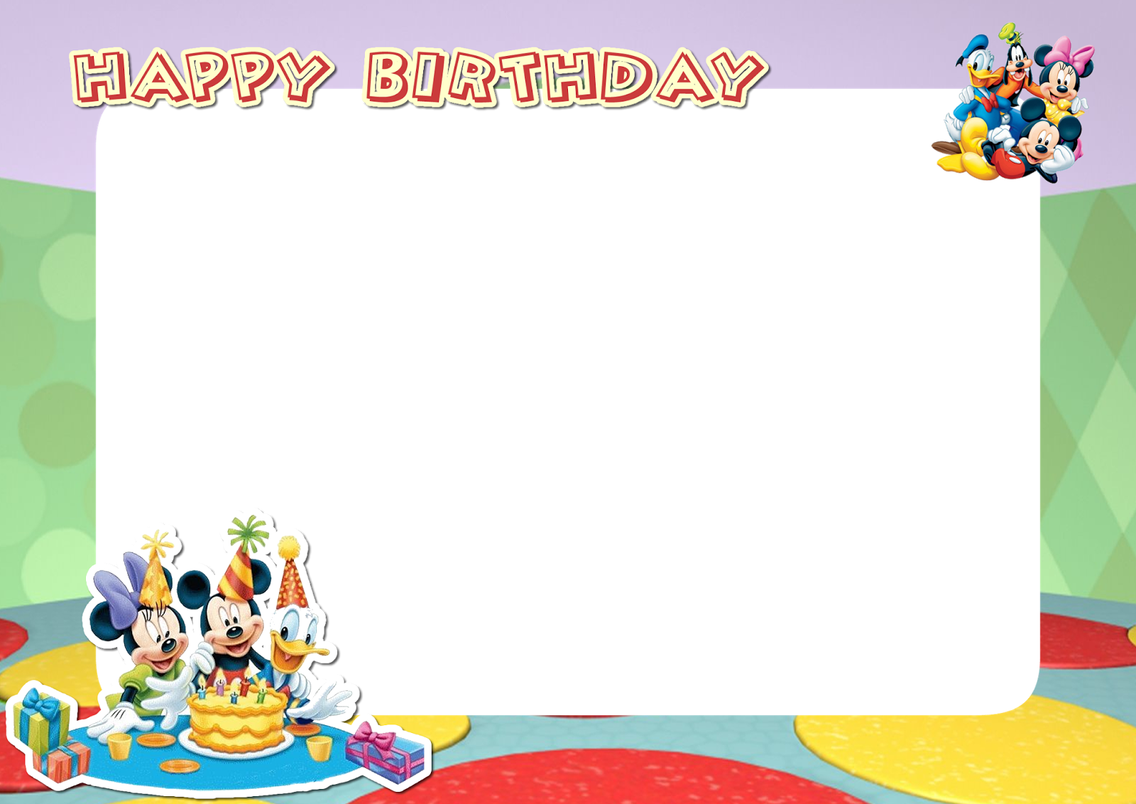 Mickey Mouse Photo Frames Download Archidev