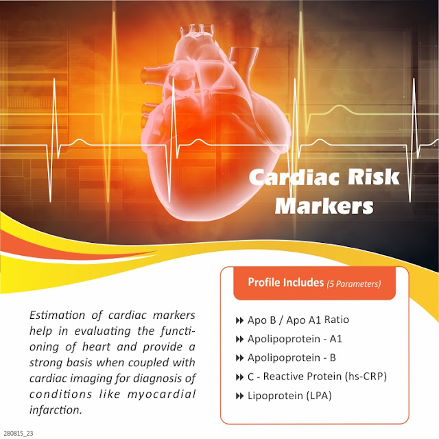 Cardiac Risk Markers (C-Reactive Protein + Lipoprotein + Apolipoprotein) @ Rs 1000 / 5 Tests