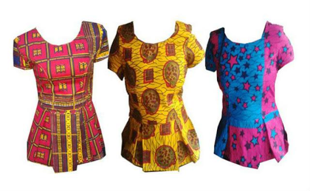 african print peplum tops