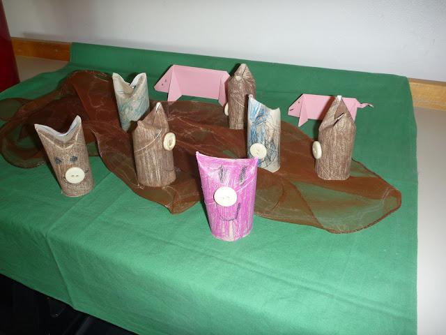 Schweine basteln im Kindergarten