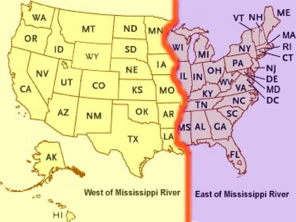map of the united states with mississippi river