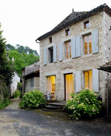 Breathtaking stone French farmhouse found on Hello Lovely Studio