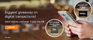 ICICI Digital Banking Mega Offer - Get Rs.250 Worth Amazon Gift Voucher on Transaction