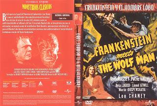 Carátula dvd: Frankenstein conoce al Hombre Lobo
