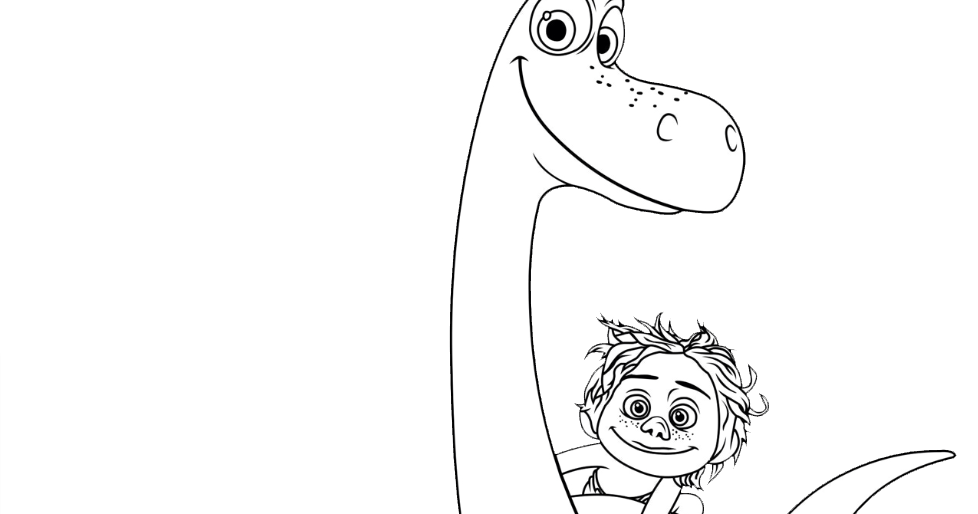 Dibujos Para Colorear Grandes: COLOREAR UN GRAN DINOSAURIO (disney Pixar 2015
