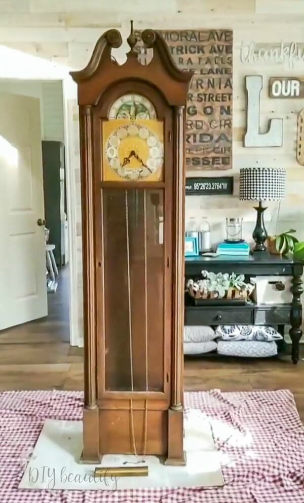 grandfather clock in need of TLC
