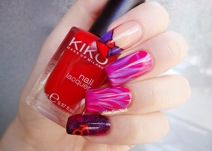 Sailor Mars nail art