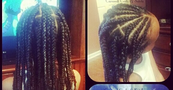 Au Naturale Hair Styles: Caramel Curlz & Swirls: Protective Style- Dark & Lovely Au