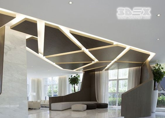 Gypsum Board Design : Extremly amazing d false ceiling designs with optical