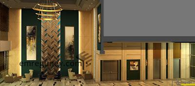 lobi ve koridor kesit