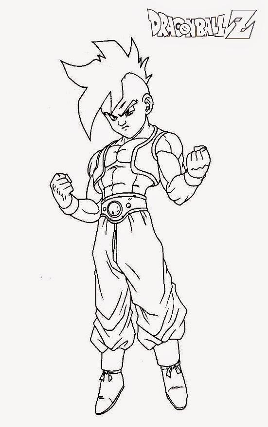 Desenhos para Colorir e Imprimir: Desenhos do Dragon Ball