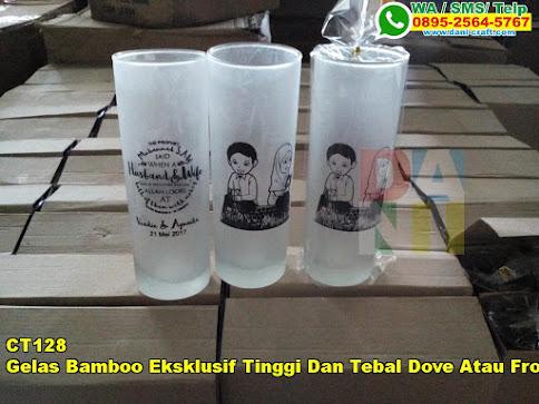 Toko Gelas Bamboo Eksklusif Tinggi Dan Tebal Dove Atau Froz