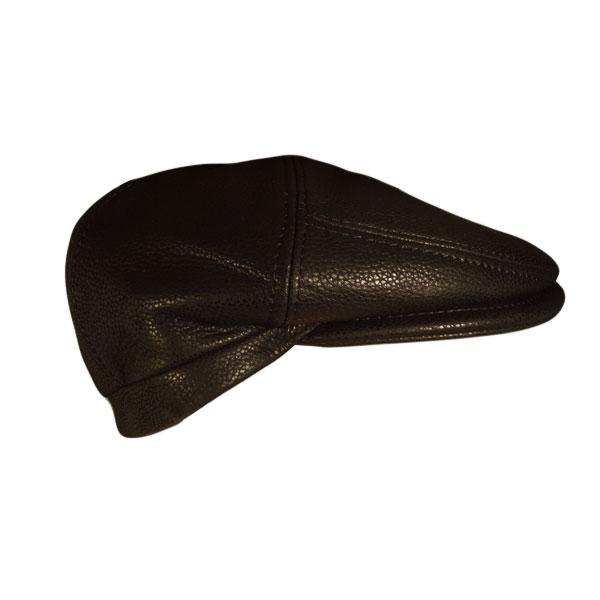 Gorra de piel para hombre Calzados Lucía. Sombrerería. 80f99112acc