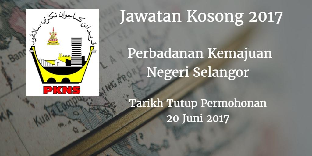 Jawatan Kosong PKNS 20 Juni 2017