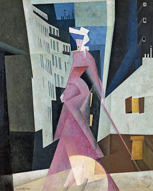 Lyonel Feininger - Lady in Mauve - 1922