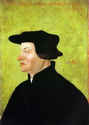"Huldrych (Ulrich) Zwingli has been called the ""Third Man of the Reformation"""