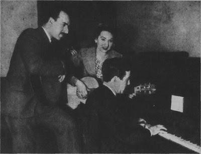 Edmundo Rivero con Lua en Radio Belgrano