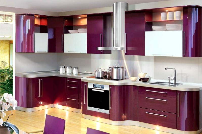 Top 5 Glossy Purple kitchen Cabinets Everyone Will Like ...