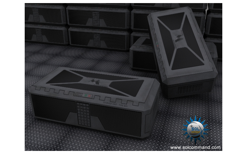 storage, unit, armament, cargo, container, crate, scifi