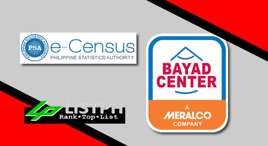 List of Bayad centers PSA/NSO - Philippine Statistics Authority