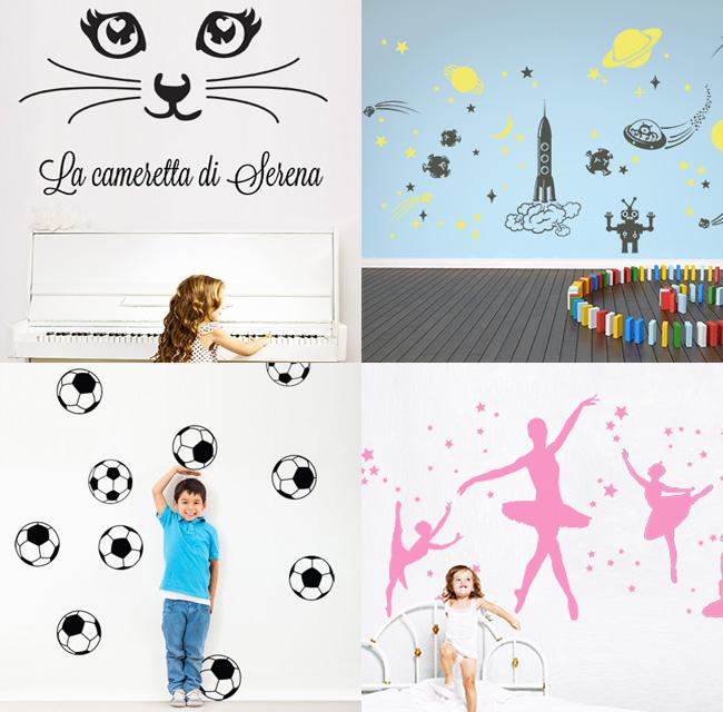 Decorare la cameretta con gli stickers murali in vinile ragazzi