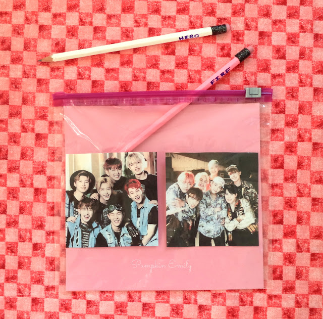 DIY Kpop Ziploc Pencil Bag