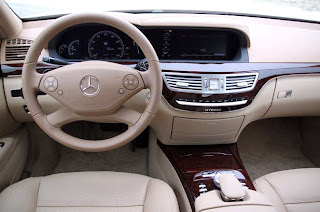 Dashboard and Stir of Mercedes S Class