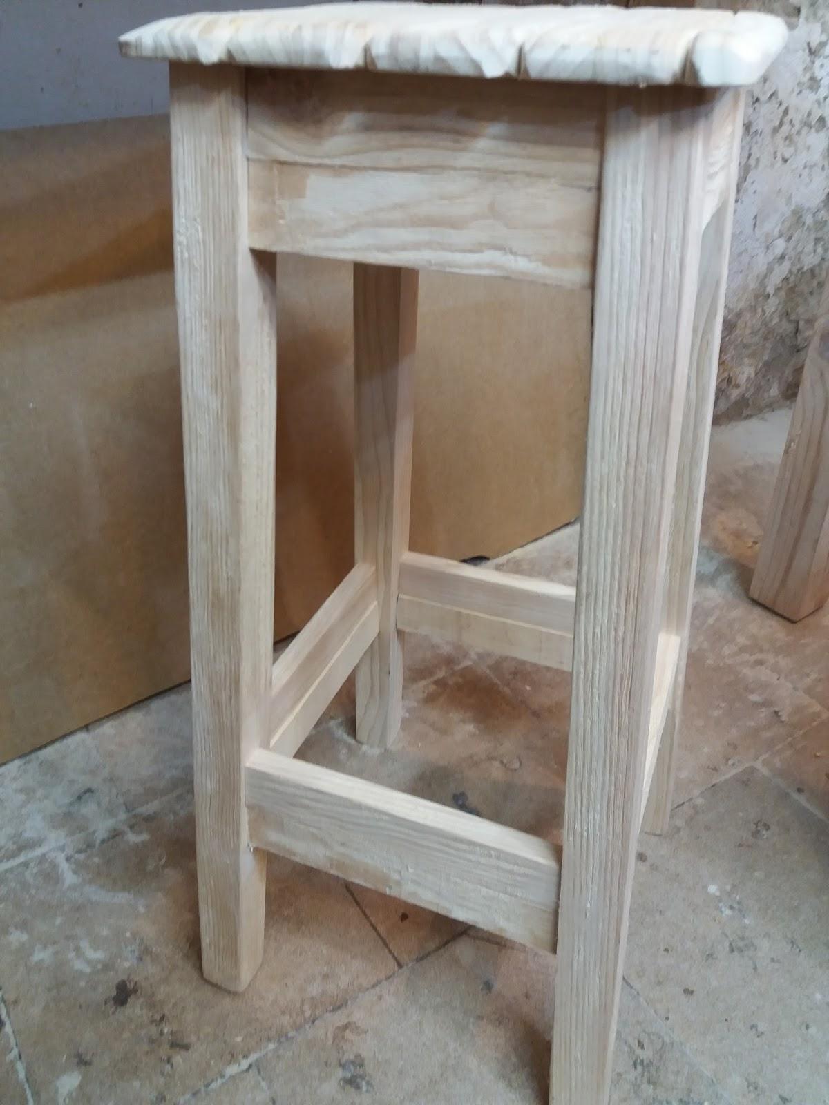 Artesan a r stica en madera taburetes de madera - Taburetes rusticos ...