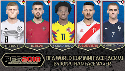 PES 2018 Mini Facepack World Cup 2018 v1 by Jonathan Facemaker