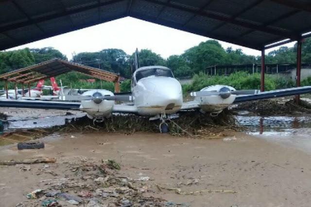 Aeropuerto Metropolitano quedo completamente inundado