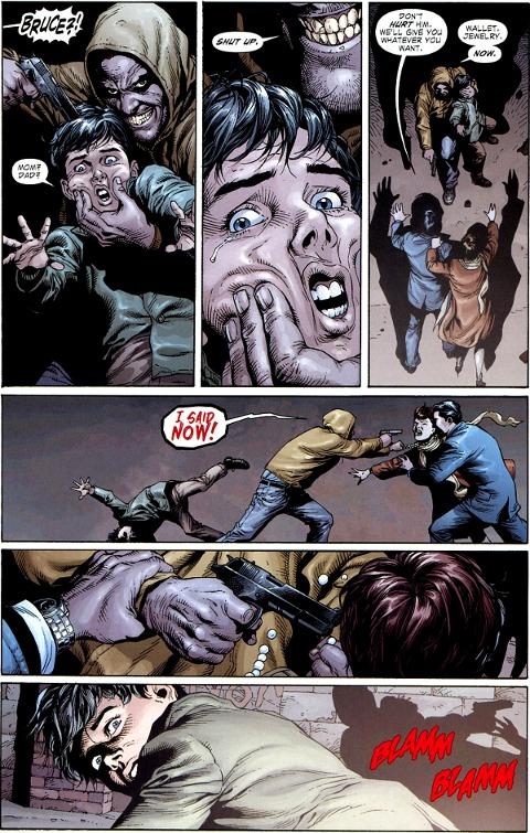 the waynes' deaths in batman earth one
