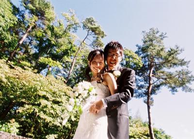 石の教会、旧近衛邸での結婚式