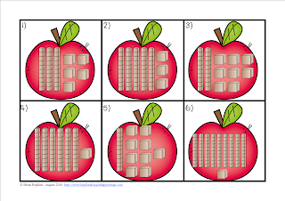 FREEBIE Place Value to 120 Apple Race