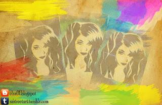 el stencil de una bella mujer hecho por Elra