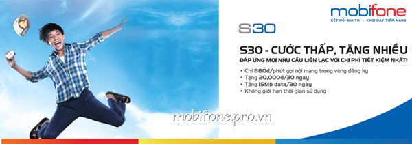 Cước thấp, tặng nhiều với gói hòa mạng S30 Mobifone