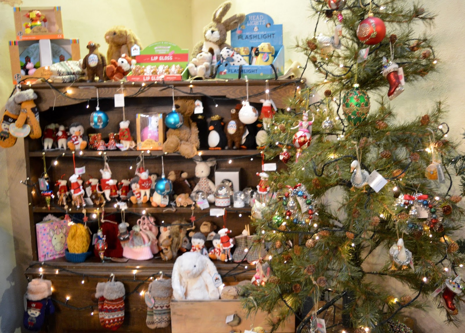 Family Sunday Lunch Menu at Roots Farm Shop & Cafe near Northallerton in North Yorkshire | A Review - Roots pop up Christmas shop - Decorations and gifts for sale