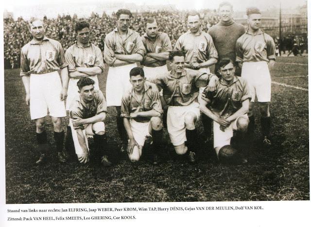 Formación de Países Bajos ante Chile, Juegos Olímpicos Ámsterdam 1928, 8 de junio