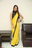 Cute Actress Ashwini in Yellow Saree Exclusive  060.JPG