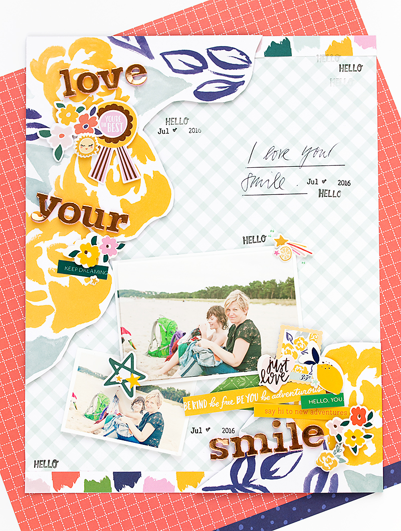 Scrapbooking layout @SandraDietrich for @DearLizzy @Americancrafts