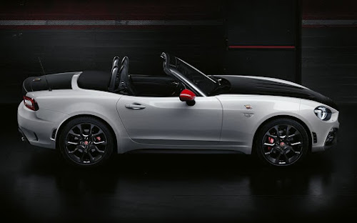 Abarth 124 spider top down