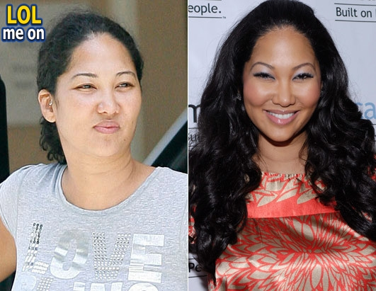 "funny celebrities picture shows Kimora Lee Simmons from ""LOL me on"""