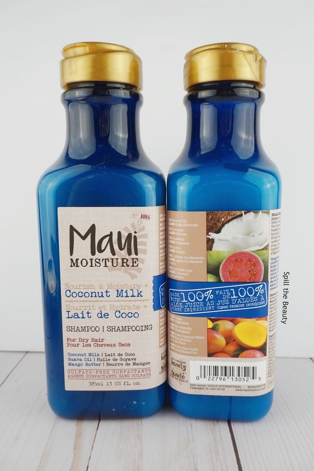 maui moisture coconut milk collection
