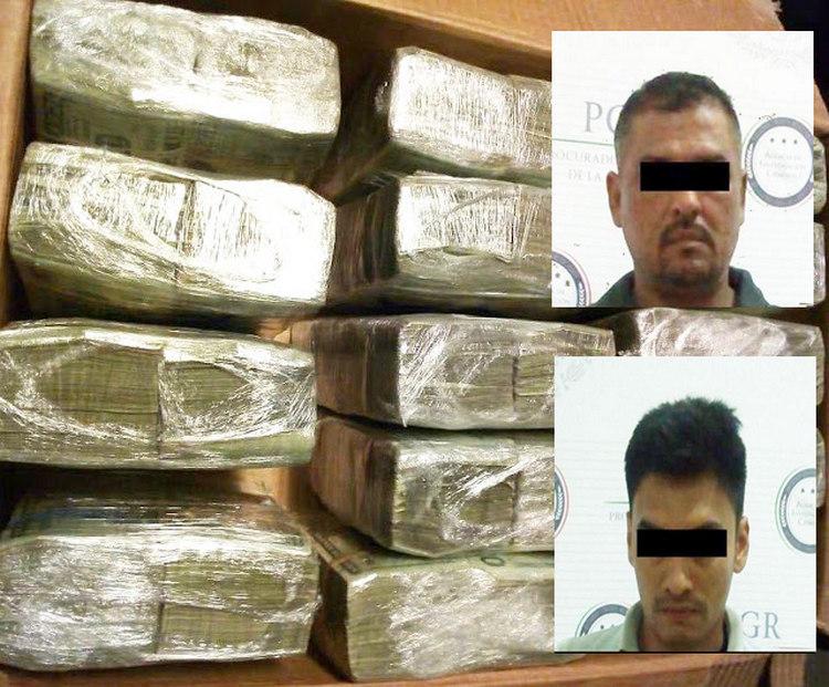 Elementos de la PGR detienen a dos con 1.5 mdd, armas y cocaína en Escárcega Campeche