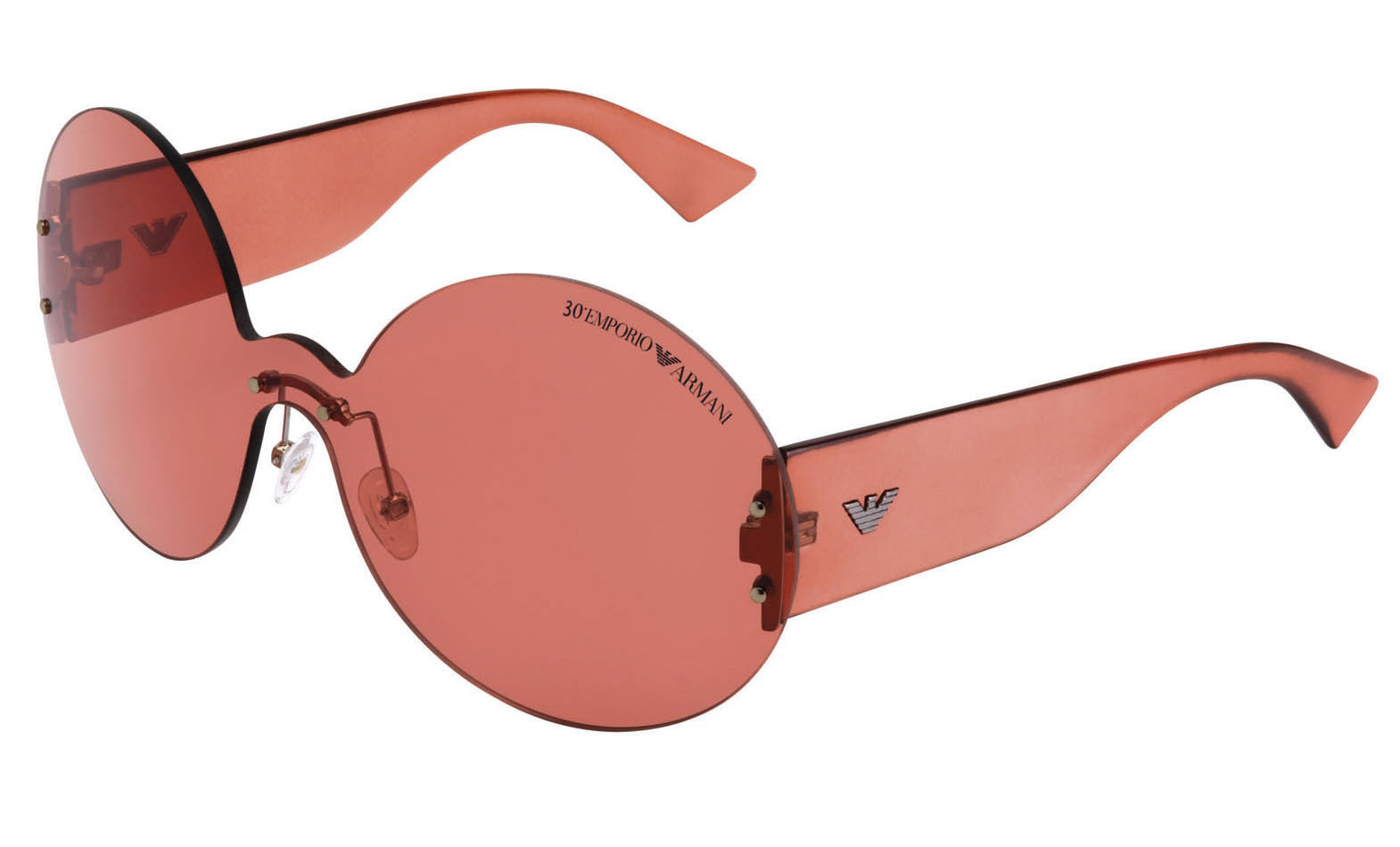 ab7d84dfc81d The '30th EMPORIO ARMANI' logo is presented on the front of the frame and  the metal signature eagle on the temples: