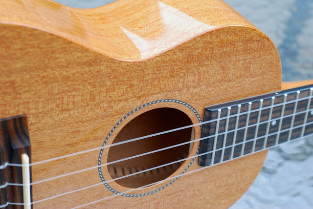 Pono MTD-E tenor ukulele sides and top