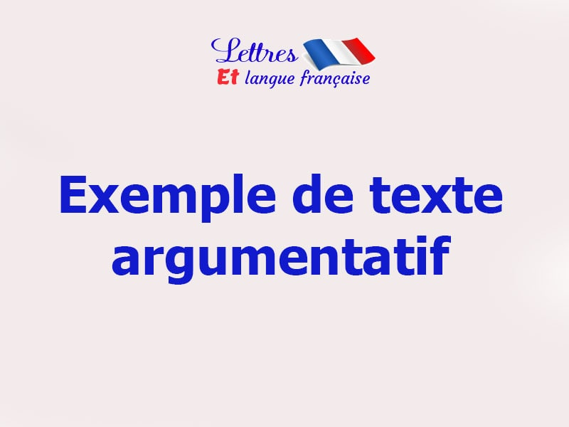le progrès scientifique texte argumentatif