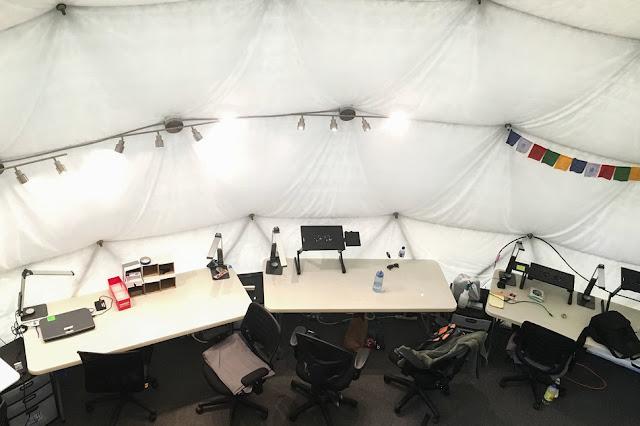 escritório - cupula que simula base em Marte -